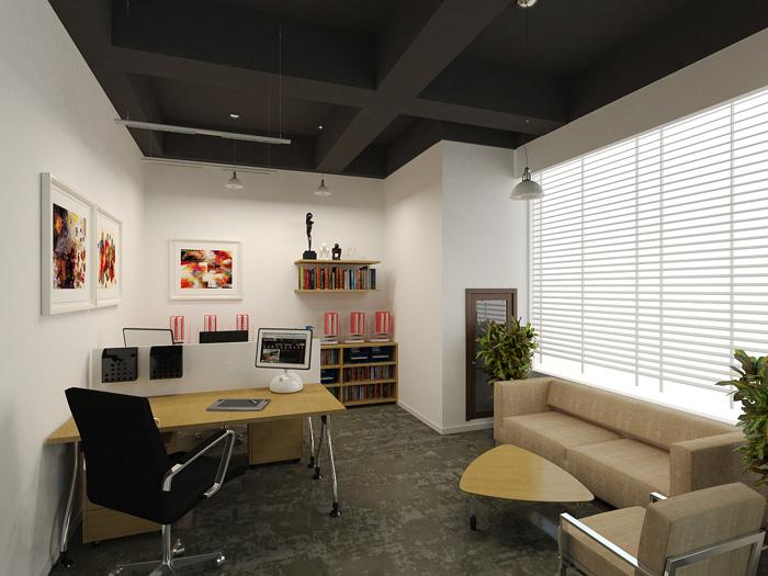 创业园区办公楼总经理办公室装修设计效果图