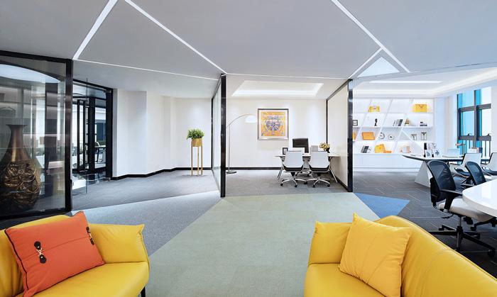 60平方办公室装修设计效果图