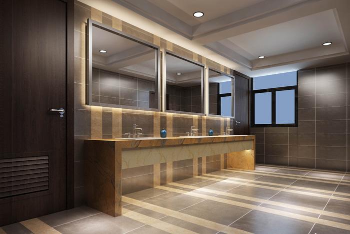 生态化办公室卫生间装修设计效果图