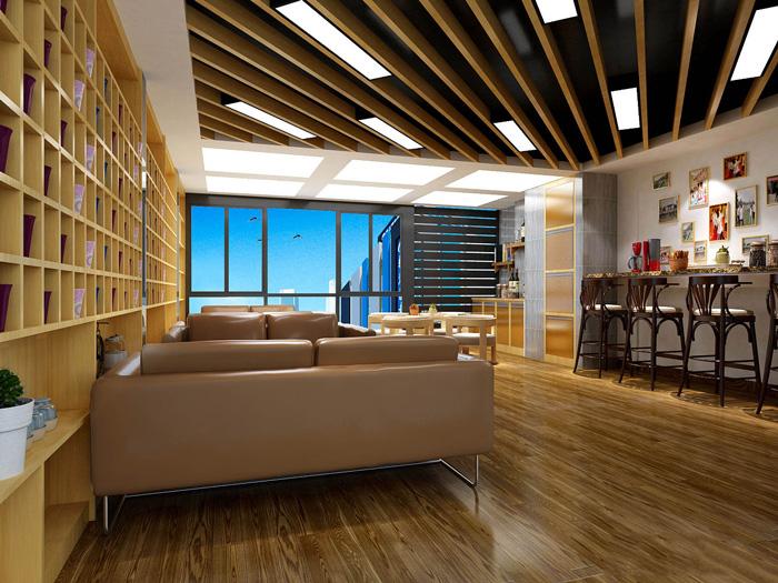 生态化办公室休息区装修设计效果图