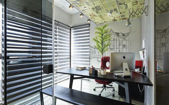 50平方工业风办公室装修设计效果图