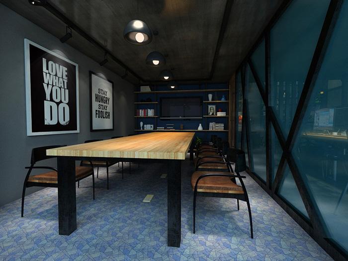 设计师在办公室设计中,以loft风格,工业风为办公室设计关键词,目的就图片