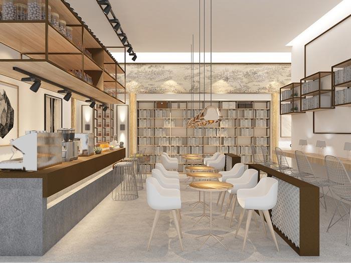 党群服务中心书吧/咖啡馆装修设计效果图图片