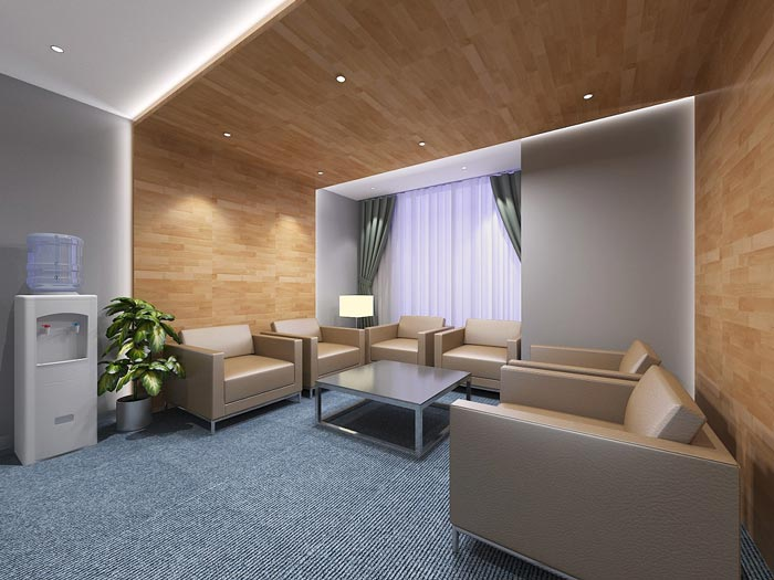 金融公司装潢装饰设计效果图图片