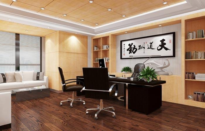 金融公司总经理办公室装潢装饰设计效果图
