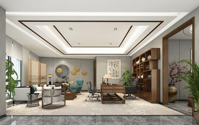 集团公司总经理办公室装修设计效果图