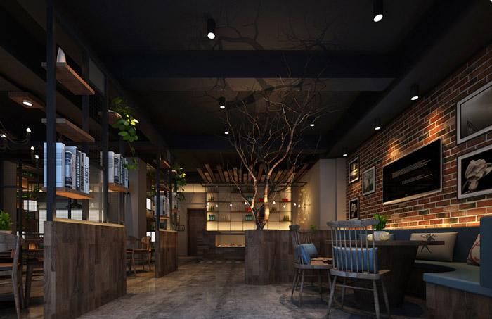烤肉餐厅大厅装修设计效果图