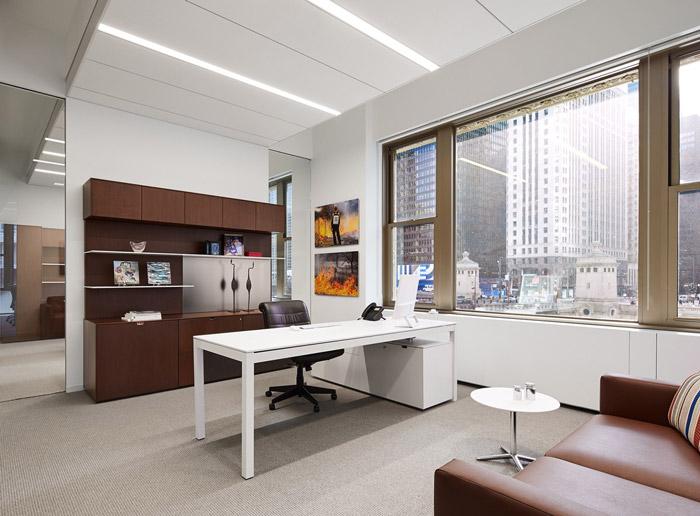 财务代理公司总经理办公室装修设计效果图