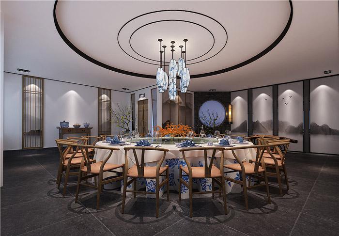江南风情主题餐厅包厢装修设计效果图
