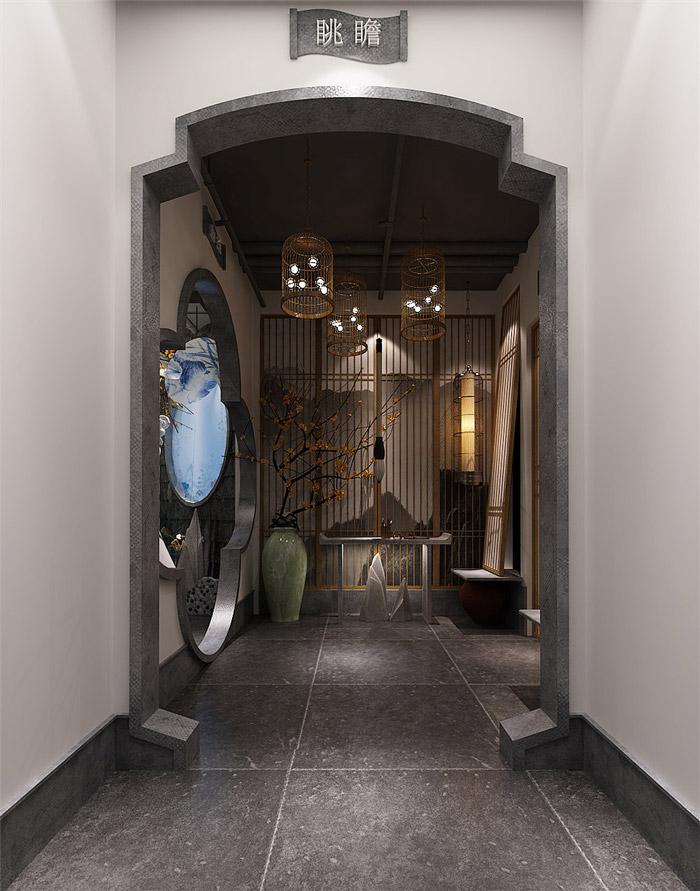 江南风情主题餐厅装修设计效果图