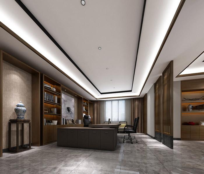 新中式办公室装饰效果图