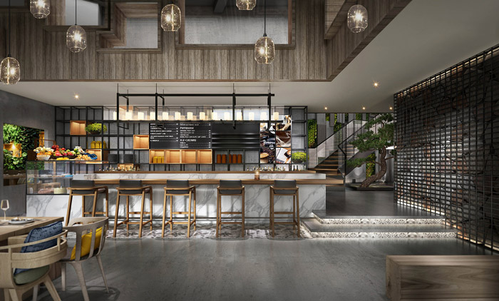 生态餐厅装修设计效果图