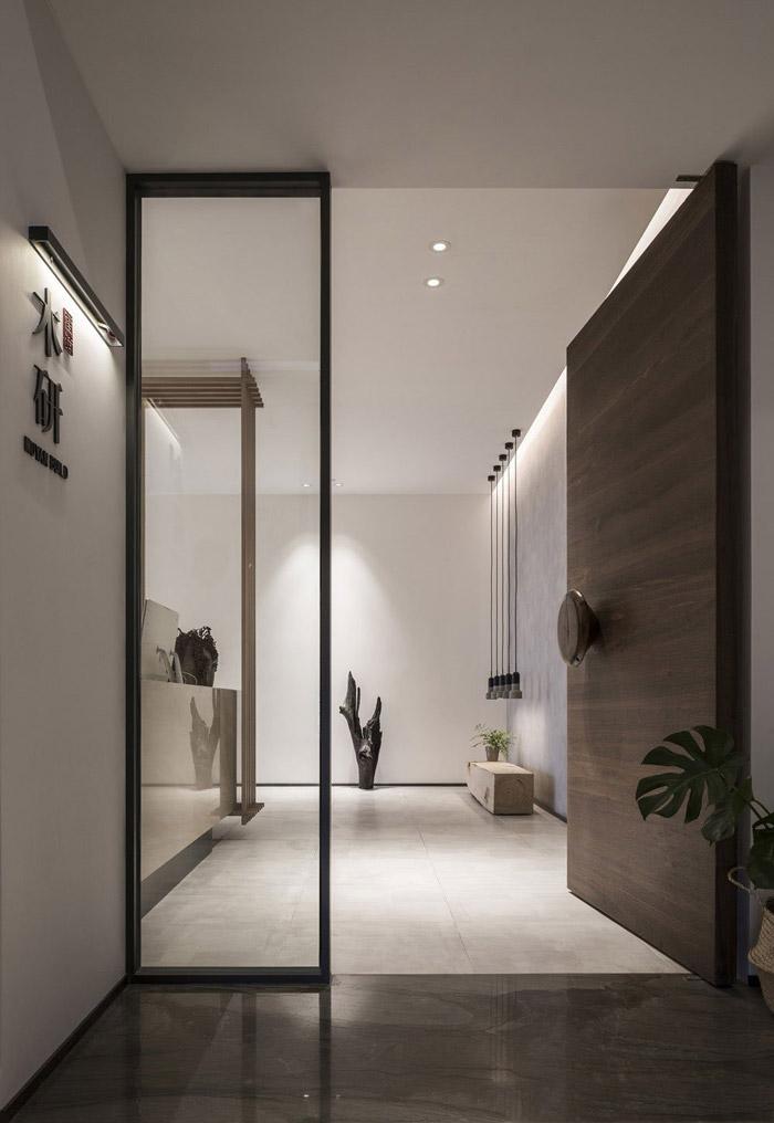 新中式风格办公室设计效果图_岚禾工装设计