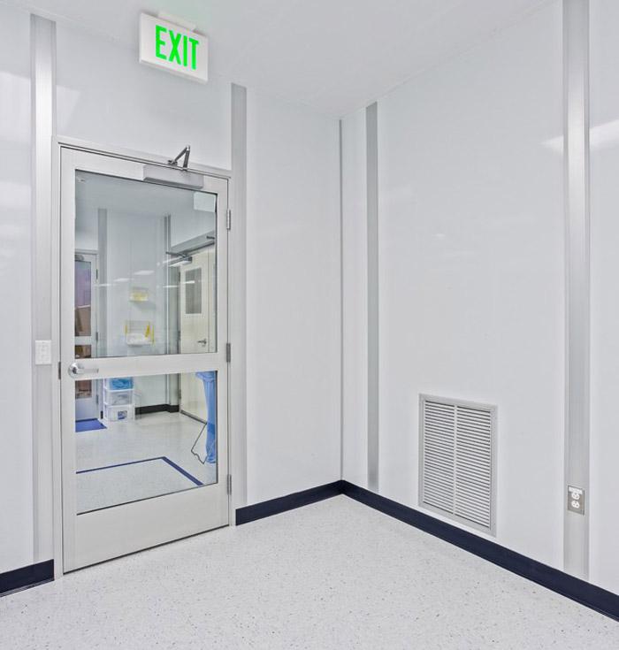 洁净厂房进门区装修设计效果图