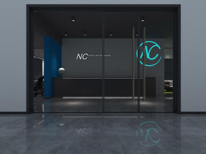 科技公司进门区装修设计效果图