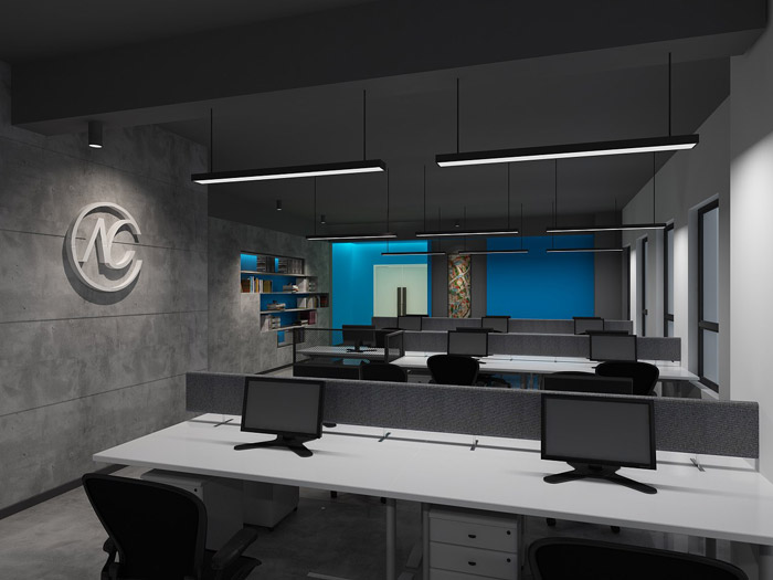 科技公司办公区装修设计效果图