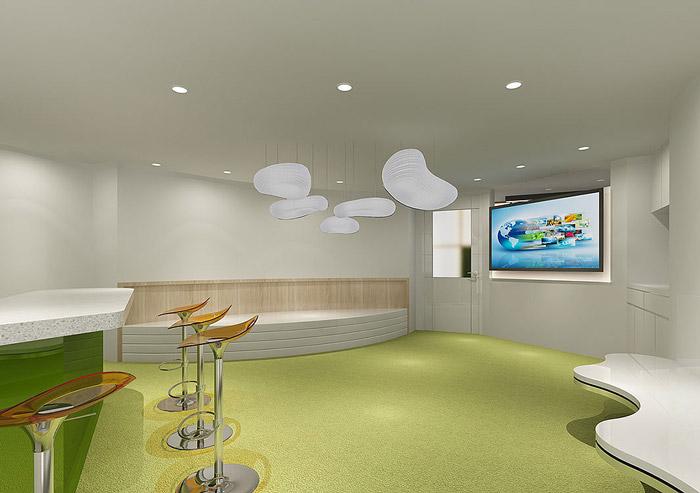 科技公司办公室休息区装修效果图