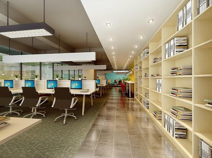 电商科技公司办公室办公区装修设计效果图