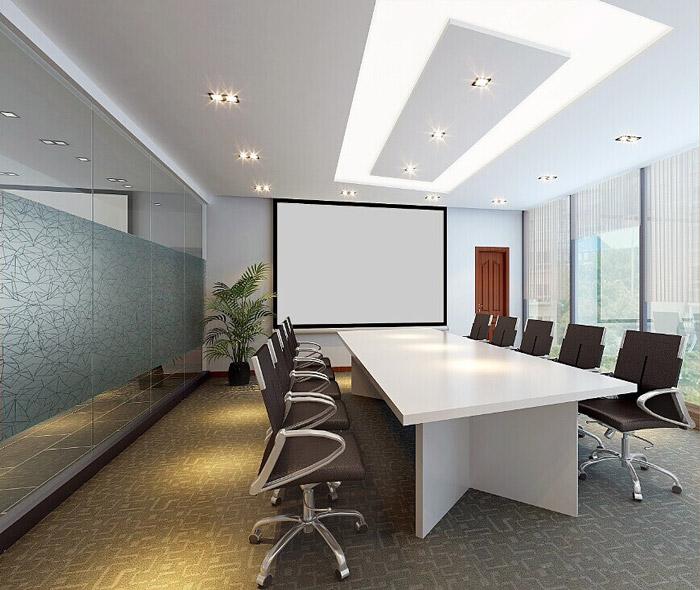 电商科技公司办公室会议室装修设计效果图