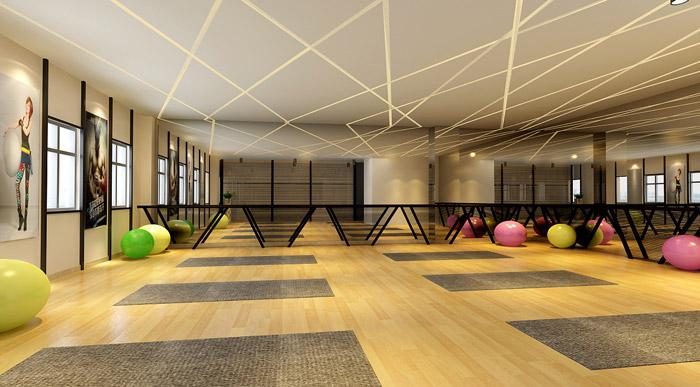 瑜伽健身馆瑜伽区装修设计效果图