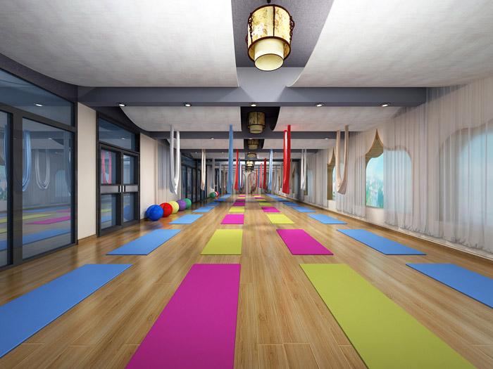 瑜伽馆瑜伽区装修效果图