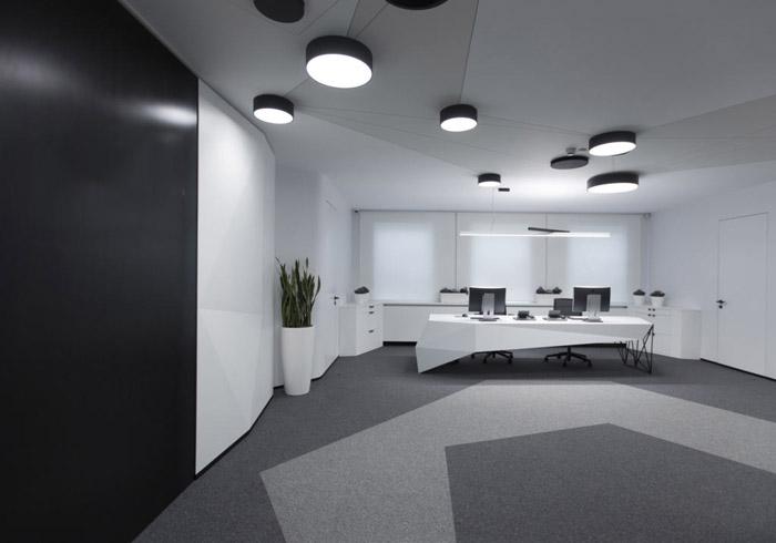 电子科技公司进门区装修设计效果图