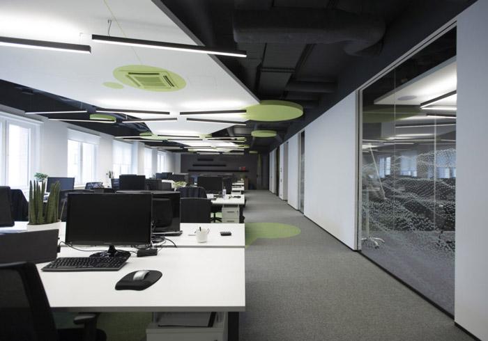 电子科技公司办公区装修设计效果图