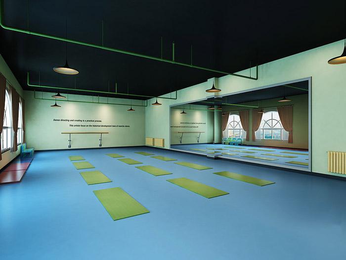 舞蹈培训机构教室装修设计效果图