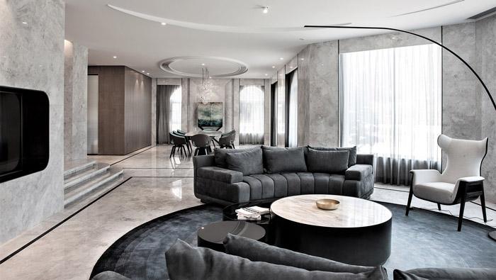 福州别墅客厅装修设计效果图