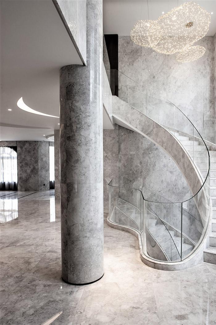 福州别墅楼梯装修设计效果图