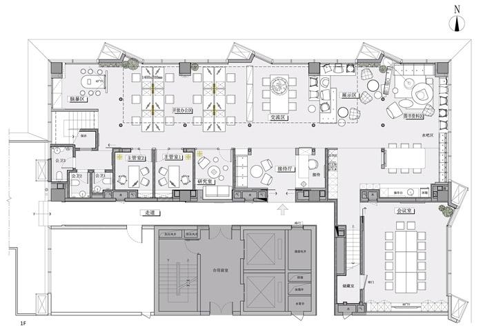 公司办公室装修设计平面图