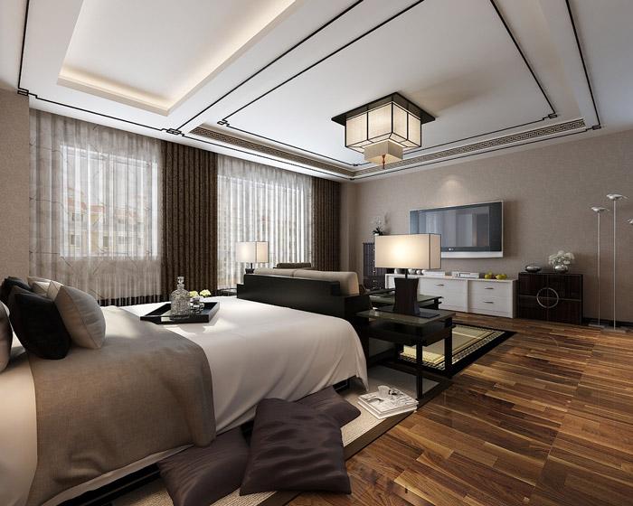 私人办公室卧室装修设计效果图