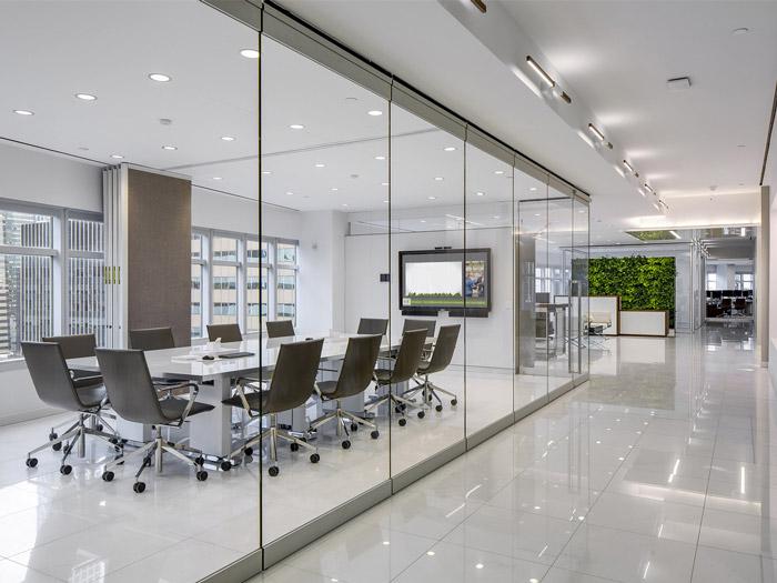 服务式办公室装修设计效果图_岚禾工装设计