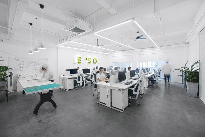 涂料公司办公室装修效果图_岚禾工装设计
