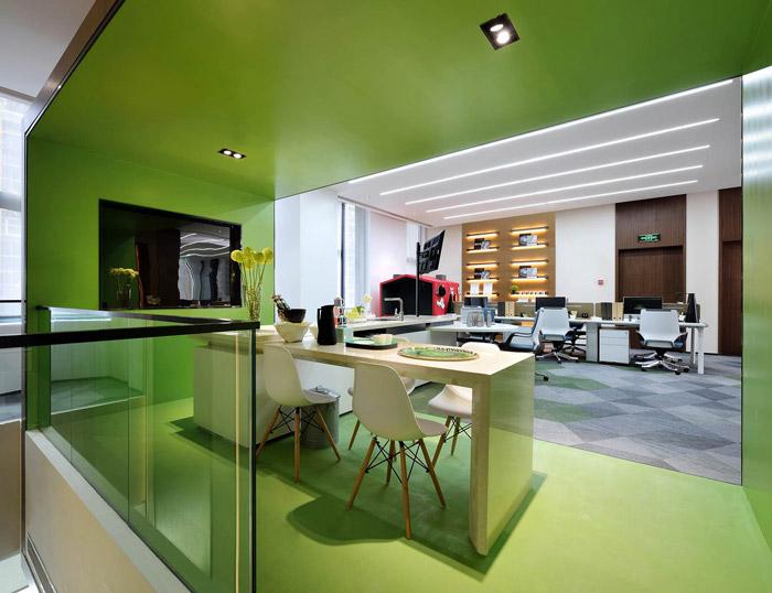 绿色办公室装修设计效果图