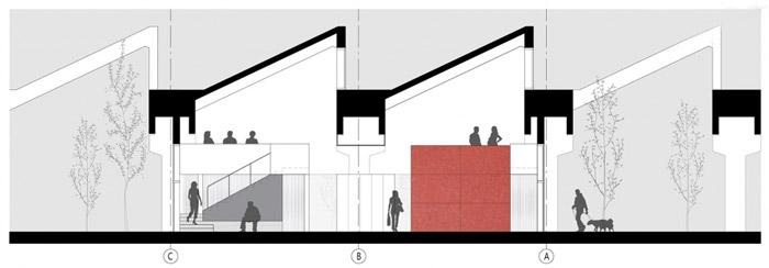 创意园区办公室剖面图