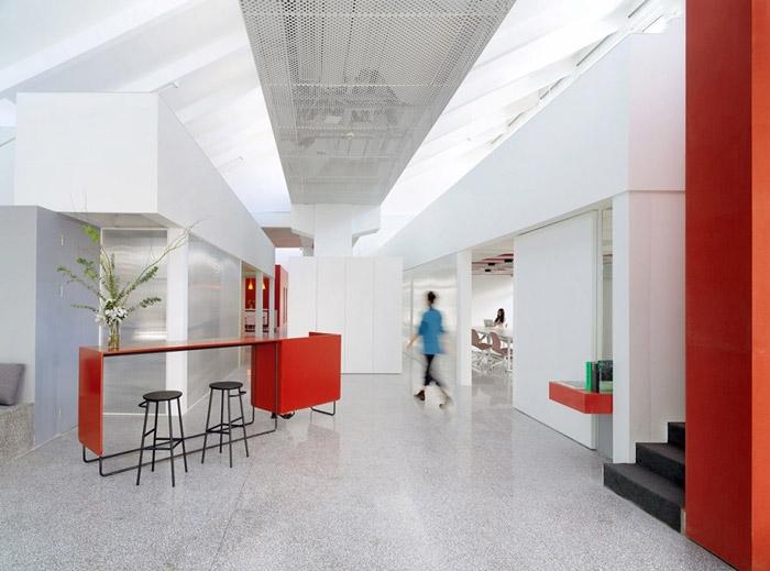 创意园区办公室入口前台装修设计效果图图片