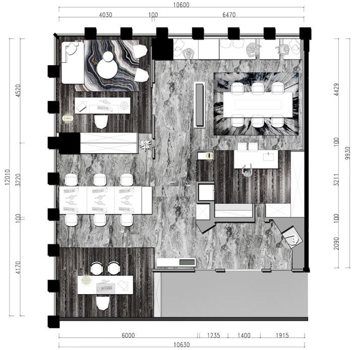 家庭辦公室設計裝修平面圖