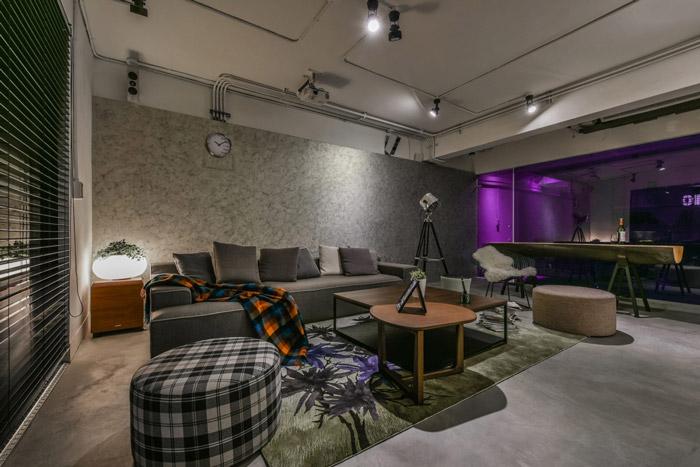小型loft风格办公室装修设计效果图