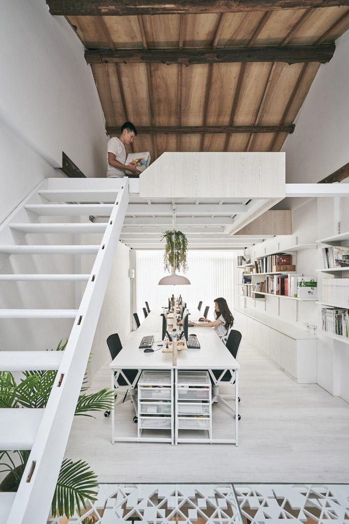 家庭式loft办公室装修设计效果图图片