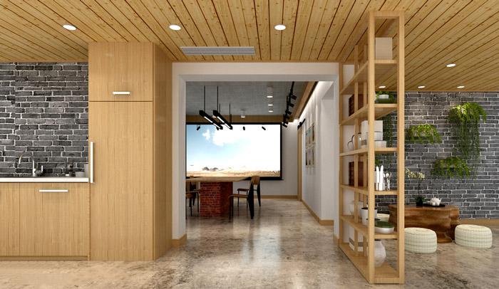 新中式工作室装修设计效果图厦门那里有学室内设计图片