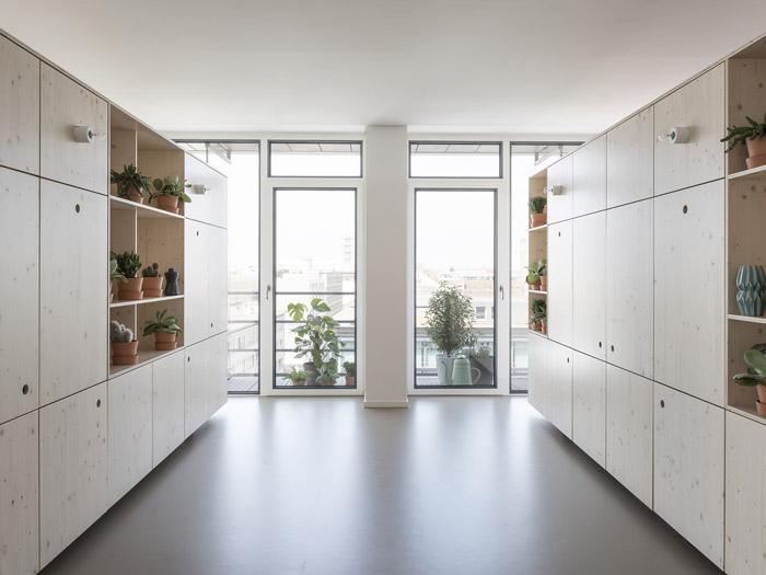 300平方办公室绿植柜装修效果图