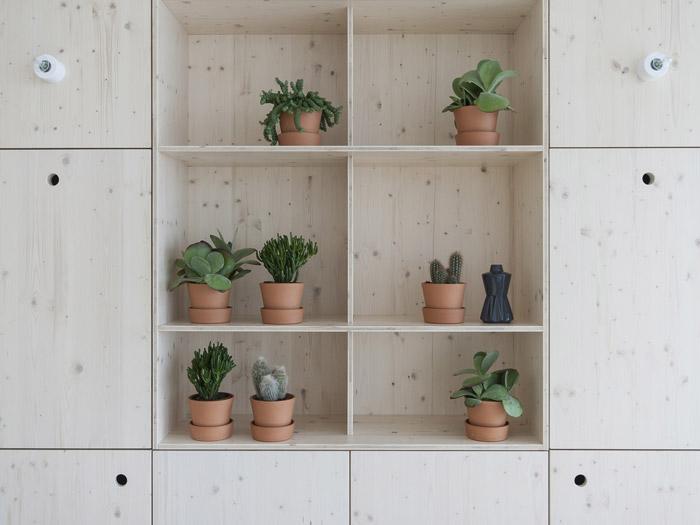 300平方办公室绿植柜效果图