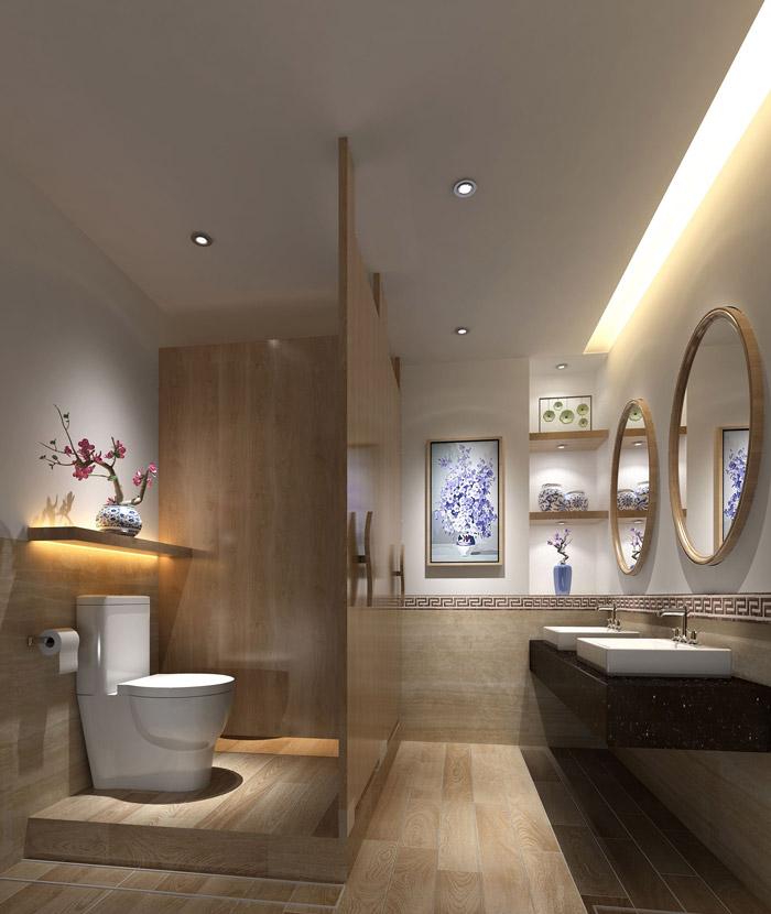 财富管理公司办公室卫生间装修设计效果图