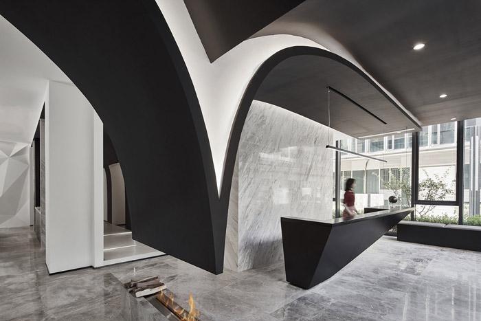 独栋别墅写字楼大厅装修设计效果图