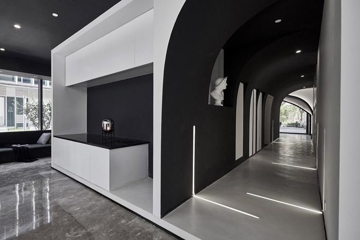 独栋别墅写字楼接待区装修设计效果图
