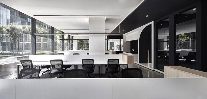 独栋别墅写字楼办公区装修设计效果图