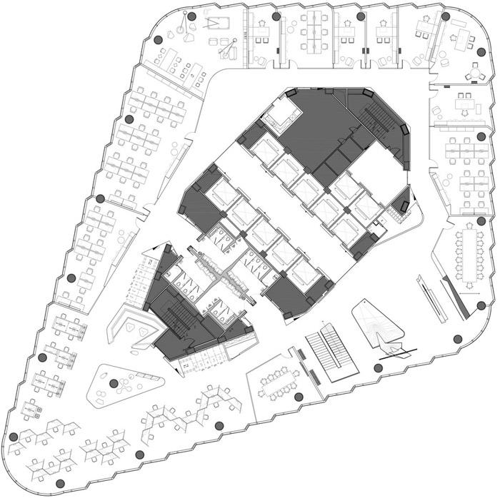 集团办公室43层平面图