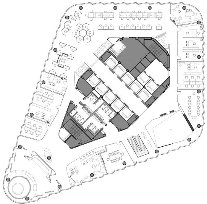 集团办公室44层平面图