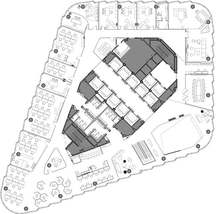 集团办公室45层平面图